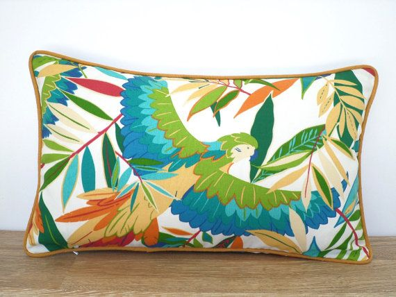 Green Leaf Outdoor Cushion Cover 20x12 Patio Furniture, Tropical Pillow  Case Indoor Outdoor, Flower