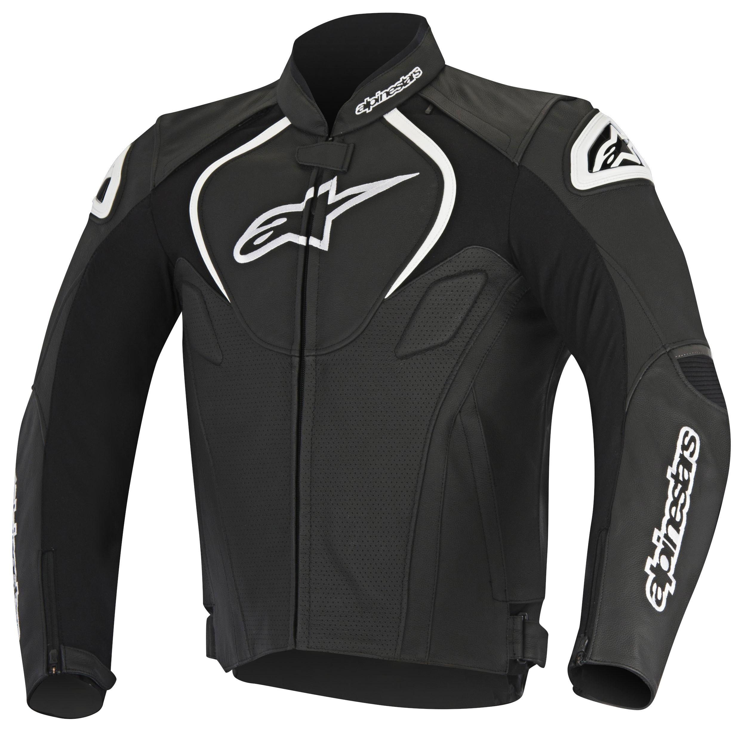 Alpinestars Jaws Perforated Leather Jacket 20 99 99 Off Revzilla Leather Jacket Black Leather Jacket Details Jackets