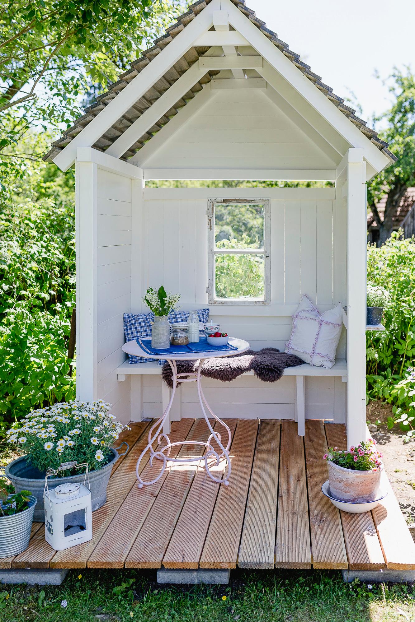 Photo of DIY Gartenlaube und Friday Flowerday • Pomponetti