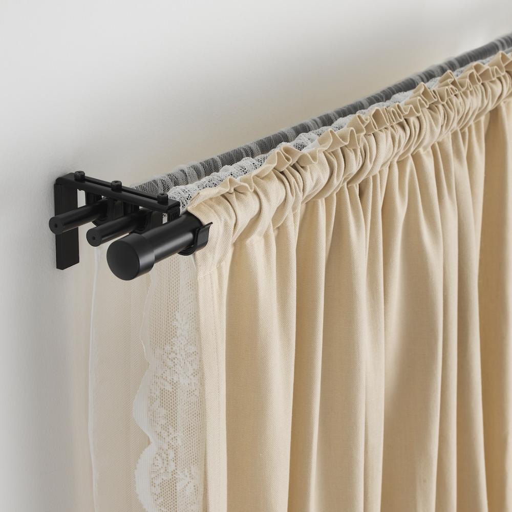 Hugad Curtain Rod Black 47 83 Ikea In 2020 Curtain Rods