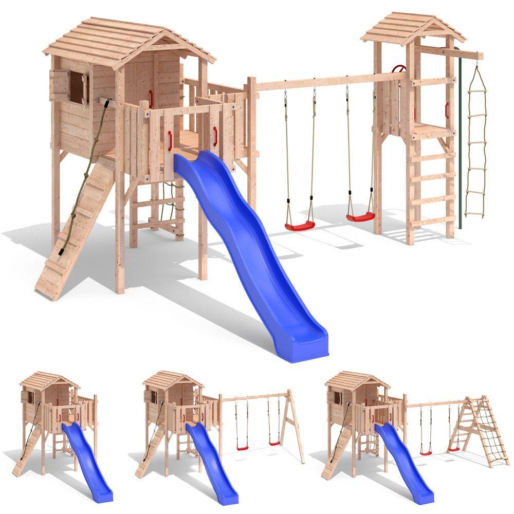 Terrizio Xl Spielturm Von Isidor Mit Treppe Schaukel Rutsche Klettern Auf 1 50 M Ebay Spielturm Baumhaus Schaukel Rutsche