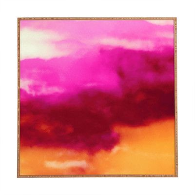 East Urban Home Cherry Rose Painted Clouds by Caleb Troy Framed Painting Print