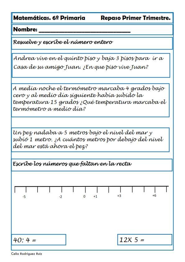 ejercicios-matematicas-sexto-primaria-14.jpg (595×842) | matematica ...