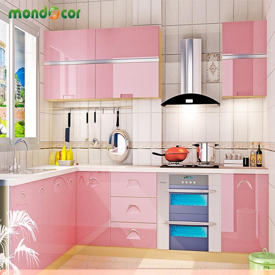 60cm X 3m 5m 10m Glossy Pearl Vinyl Pvc Waterproof Self Adhesive Wallpaper Kitchen Cabinet Kitchen Cabinets Peeling Kitchen Wallpaper Kitchen Furniture Design