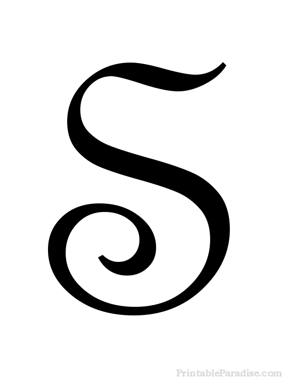Printable Letter S In Cursive Writing  Misc    Cursive