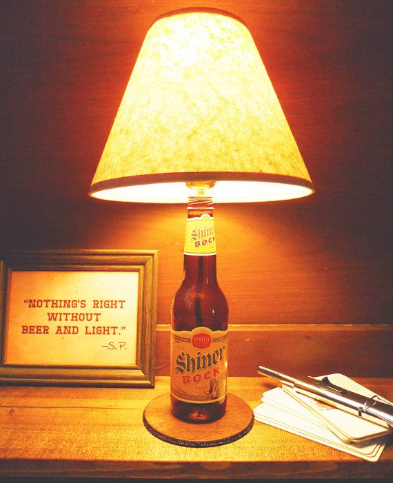 Shiner Bock Bottle Lamp Free US Shipping by BrewLamps on Etsy, $50.00