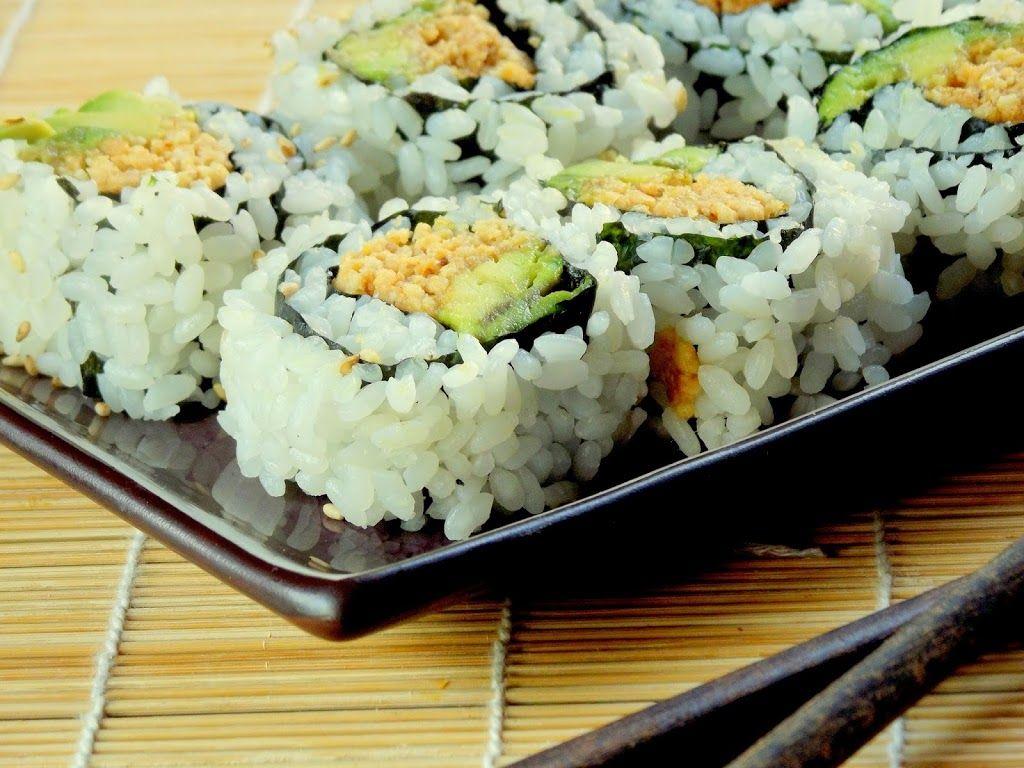 Peanut Avocado Sushi | Yum | Pinterest | Vegan sushi, Vegans and ...