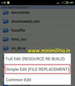 Modify or Hack Mini Militia Change Avatar + Background