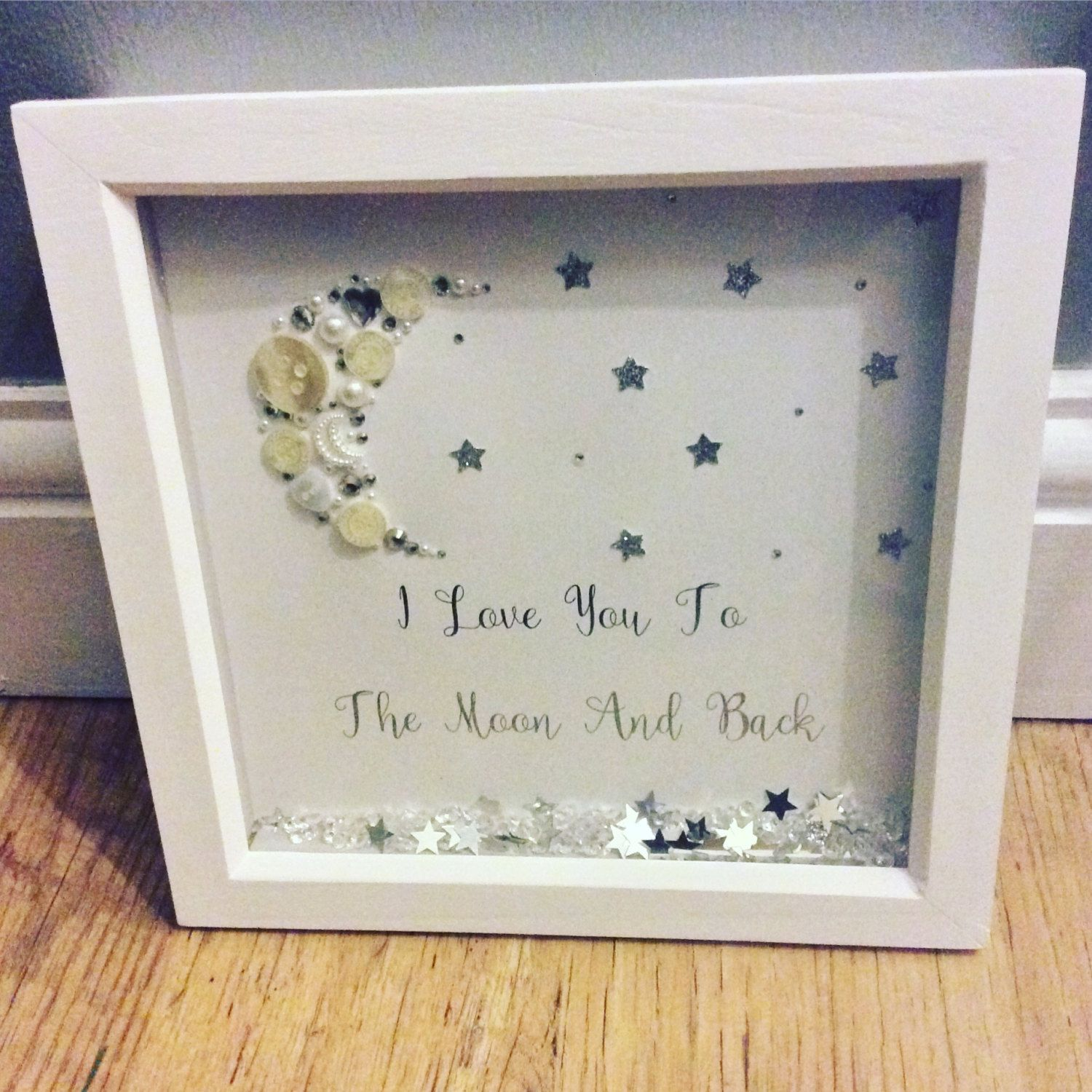 i love you to the moon and back box frame