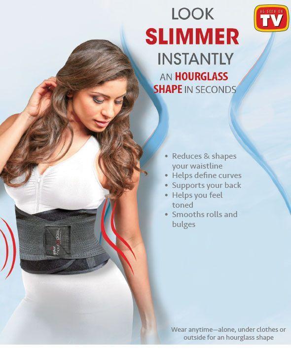 214bc7d9808 Genie Hourglass™ Waist Training Belt Cincher Shapewear Compression Back  Support