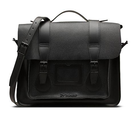 DR MARTENS Grande sacoche en cuir Pebble. Black Leather BagsBlack ...