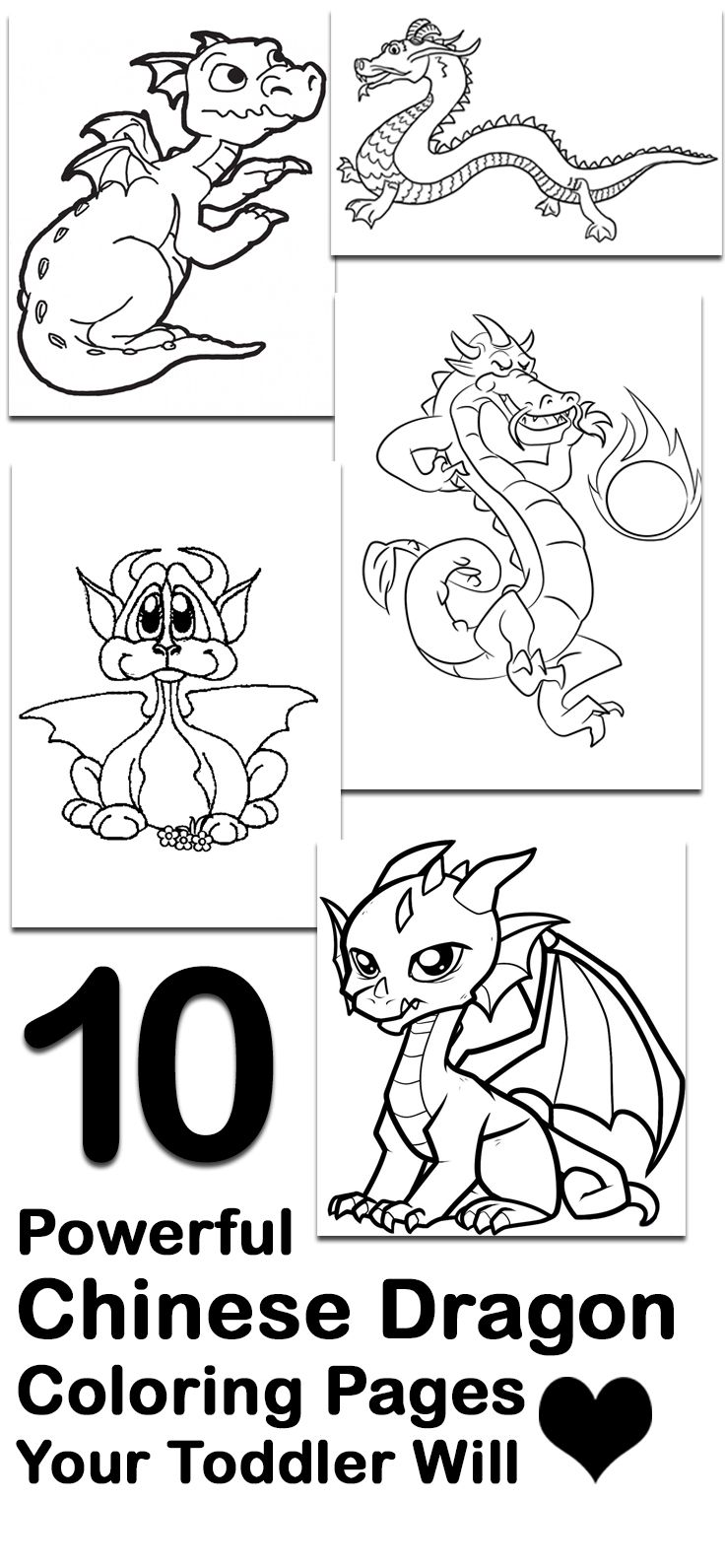 Top 10 Free Printable Chinese Dragon Coloring Pages Online ...