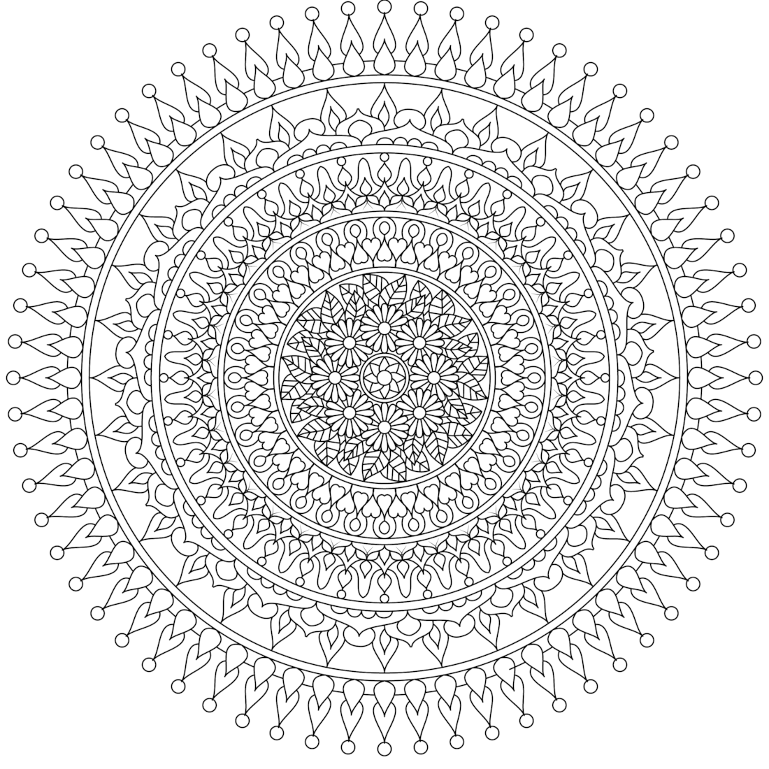moon heart a beautiful free mandala coloring page you can print - Pictures That You Can Color And Print