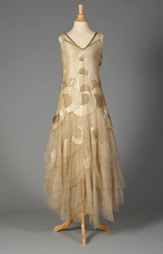 Evening dress, 1920s. | Pretty Dresses | Pinterest | 1920s, Vintage ...