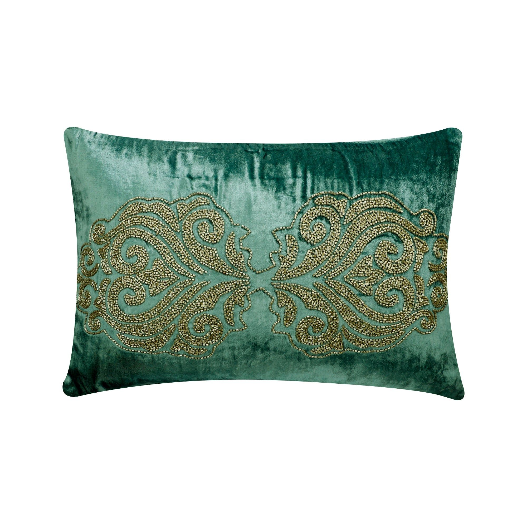 Decorative Oblong Lumbar Throw Pillow Covers Teal Velvet Etsy In 2020 Lumbar Throw Pillow Damask Pillows Velvet Pillows