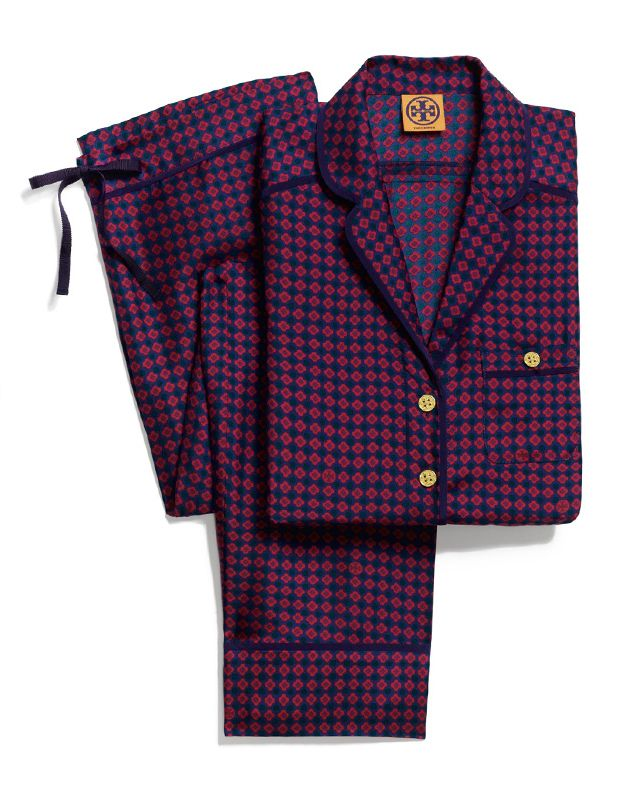 Tory Burch Silk Pajamas  Louche menswear pj s for staying in… or going out   d6ab7a130