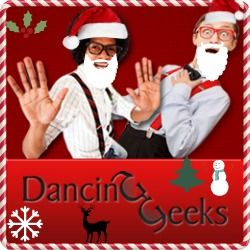 Dancing Geeks got a little holiday make-over :) We are waiting for your video entries. Record your dance video to benefit American Red Cross, American Cancer Society or the Salvation Army.  visit our website for more details: www.dancinggeeks.com