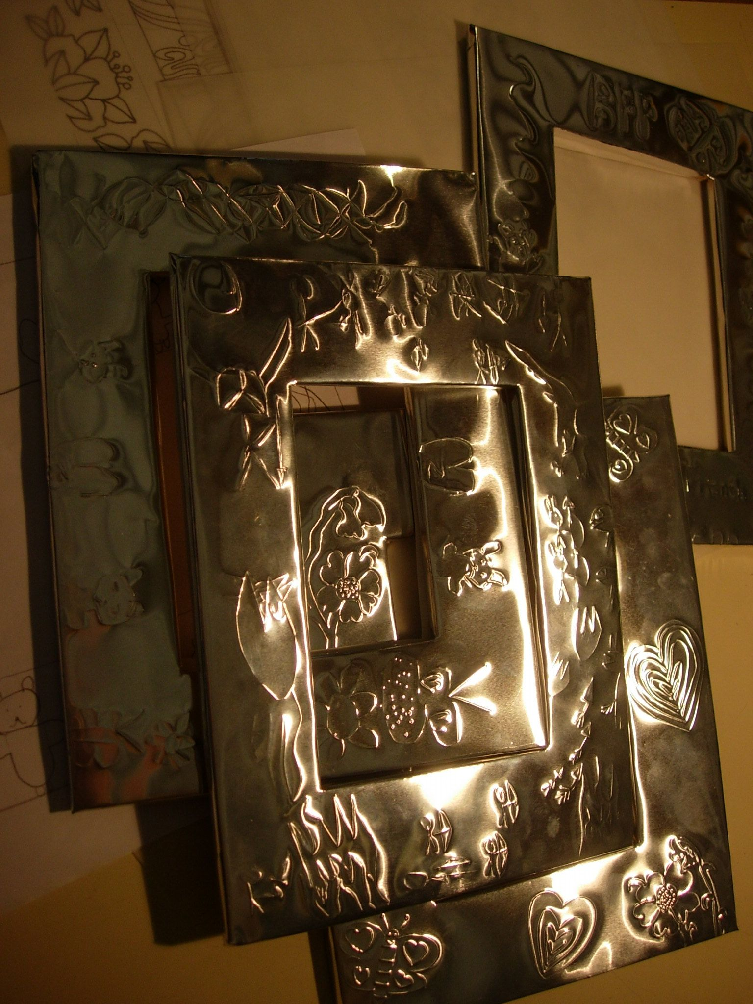 Embossed Picture Frames | Tin, Can & Foil | Pinterest