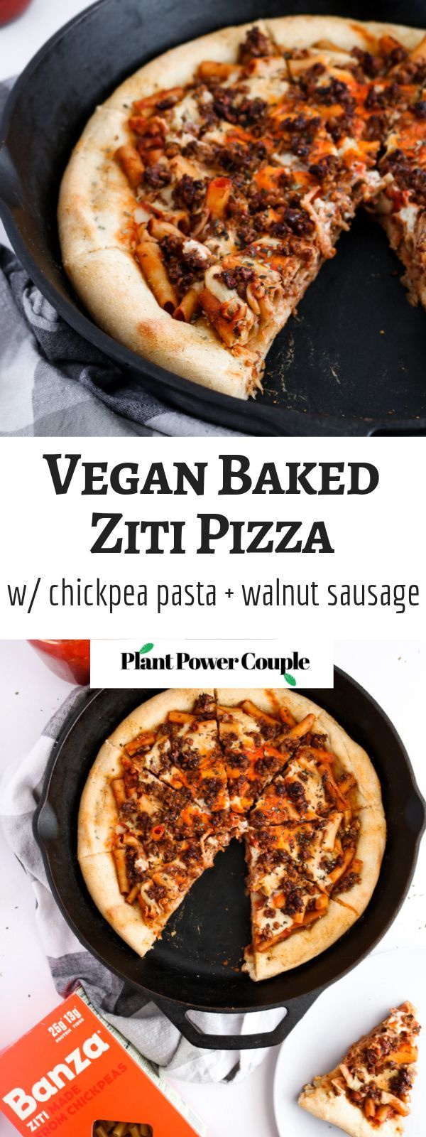 Vegan gebackene Ziti Pizza  YUM