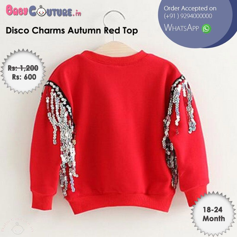 dc1614182ff7 Disco Charms Autumn Red Top