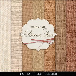 New Freebies Kit of Backgrounds - Brown Linen