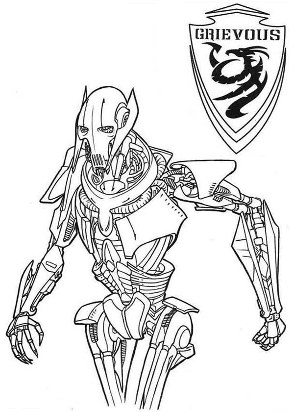 General Grievous From Star Wars Coloring Page Download Print Online Coloring Pages For Free Col Super Coloring Pages Coloring Pages Online Coloring Pages