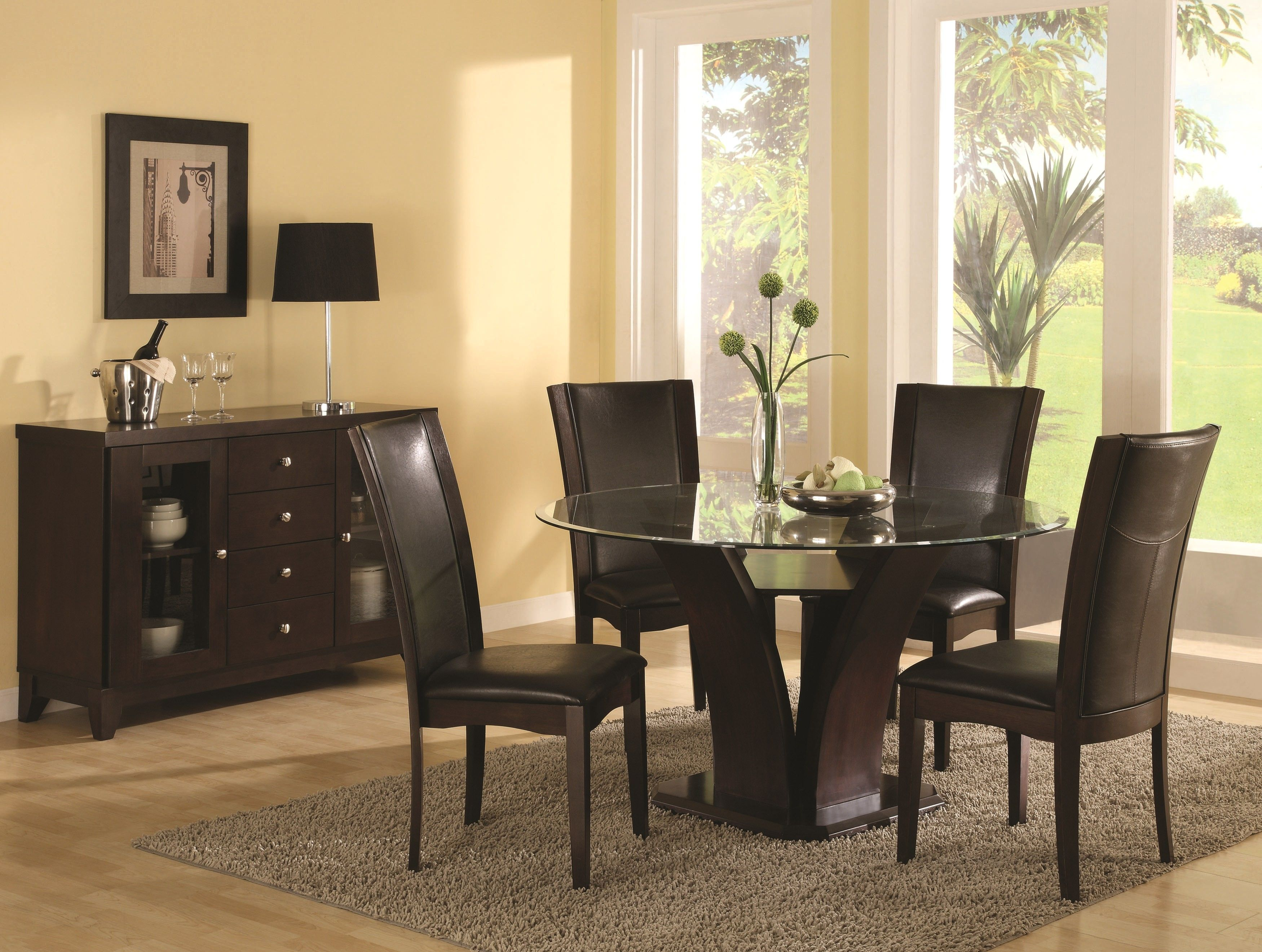 Contemporary Round Dining Room Tables Alluring Contemporary Espresso  Chairs  Pinterest  Espresso Inspiration Design