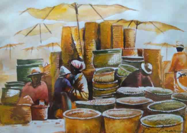 Romain Rakotoarimanana Peinture A L Huile Madagascar Paysages
