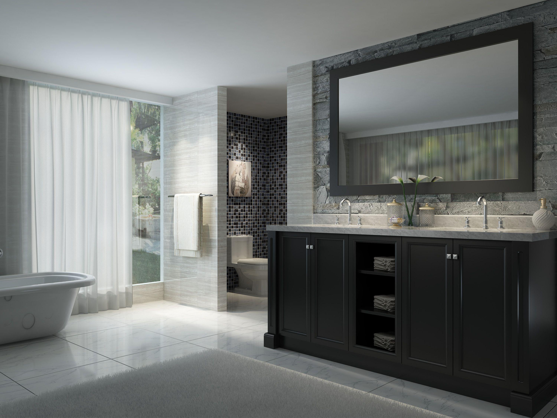 73 Inch Double Sink Bathroom Vanity Set In Black Finish 72 Inch Bathroom Vanity Small Bathroom Vanities Bathroom Vanity