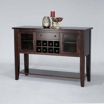 Cochrane Cafe Xpress Contemporary Sideboard In Distressed Merlot