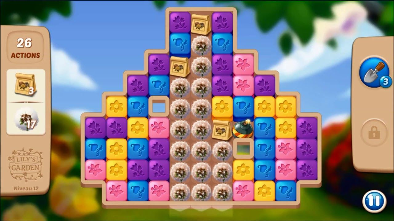 Lily S Garden Level 12 No Boosters Lily Garden Garden Levels Lily