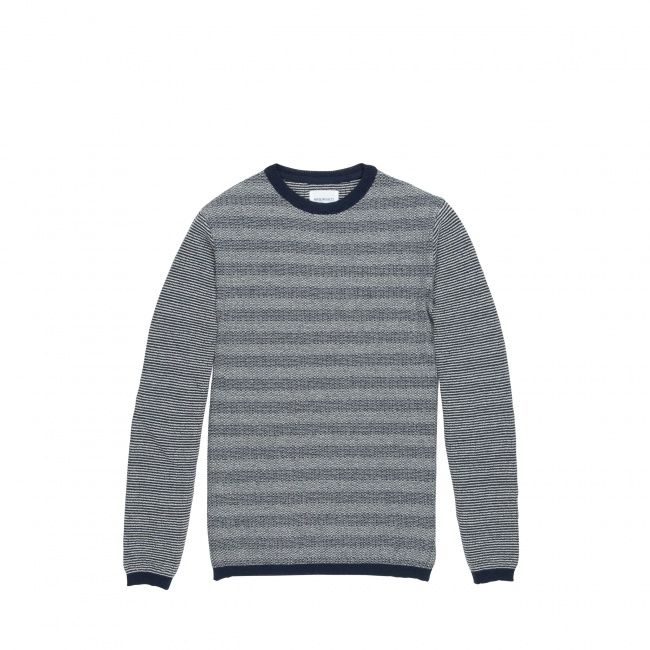Norse Projects Sigfred denim stitch knit - Norse Projects