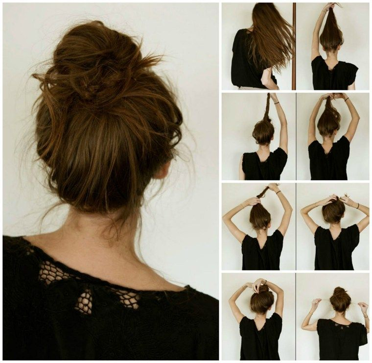 Coiffure facile faire soi m me pour avoir l 39 air encore plus d contract style d contract - Faire un chignon ...