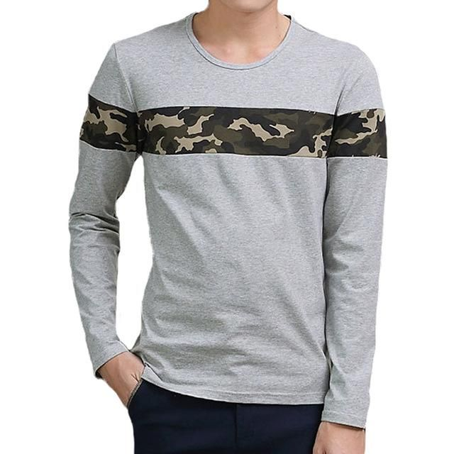 Slim Fitted Long Sleeve Camouflage Tee