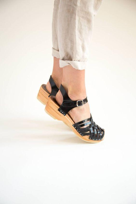 Anna sandals in black | Clogs, Clogs