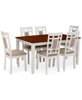 Delran White 7Piece Set Dining Room Furniture Set  Furniture Fair Macys Dining Room Chairs Design Decoration