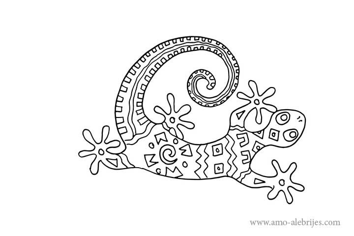 dibujos para dibujar alebrijes lagartija | moldes | Pinterest ...