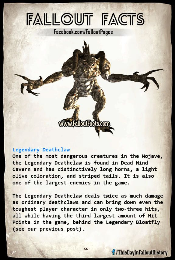 legendary deathclaw new vegas | Fallout | Fallout facts
