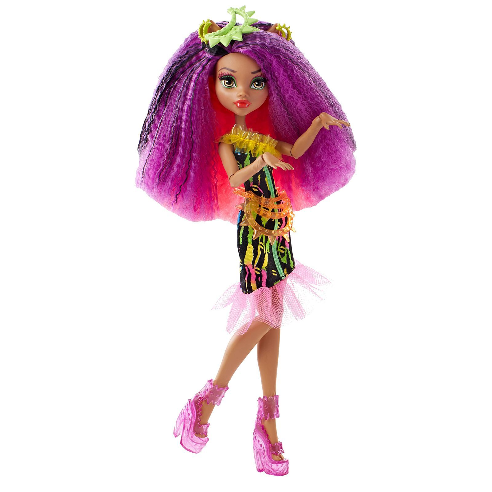Monster high electrified monstrous hair ghouls clawdeen - Clawdeen wolf pyjama party ...