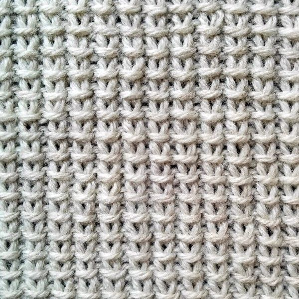 Stitch Patterns For Knitting : Done in a multiple of two stitches & in a two-row repeat, the Jute Stitch...