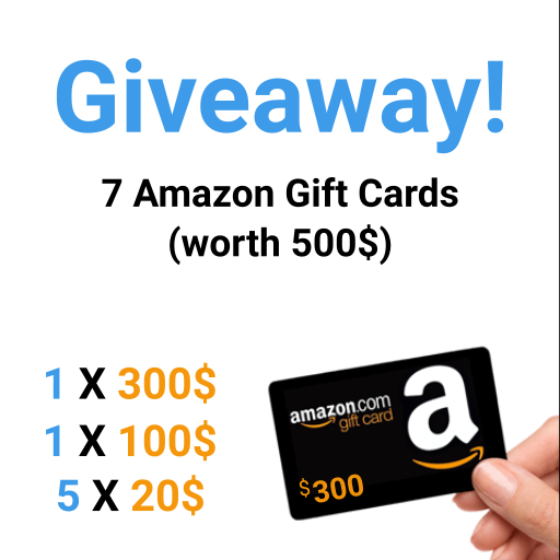 Artpic Amazon Gift Cards Giveaway 500 Amazon Gift Cards