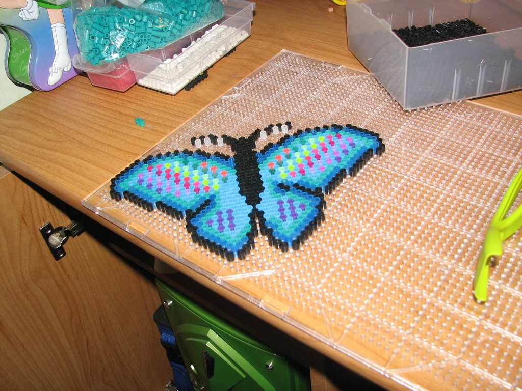 Butterfly perler beads by ndbigdi on deviantart