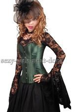 Sexy Green Satin Size S-2XL CORSET Gorgeous Bustier Nifty SGND- A074_green
