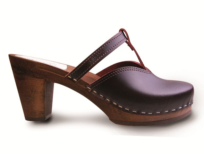 New Maguba clog Nice Bordeaux/Brown High heel.