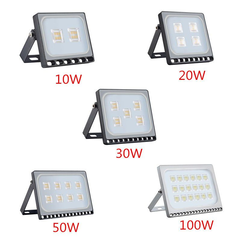 1 Pcs Ultra Mince A Mene La Lumiere D Inondation 10 W 20 W 30 W 50 W 100 W Ip65 110 V 220 V Led Spotlight Refletor Eclaira Led Flood Led Spotlight Flood Lights