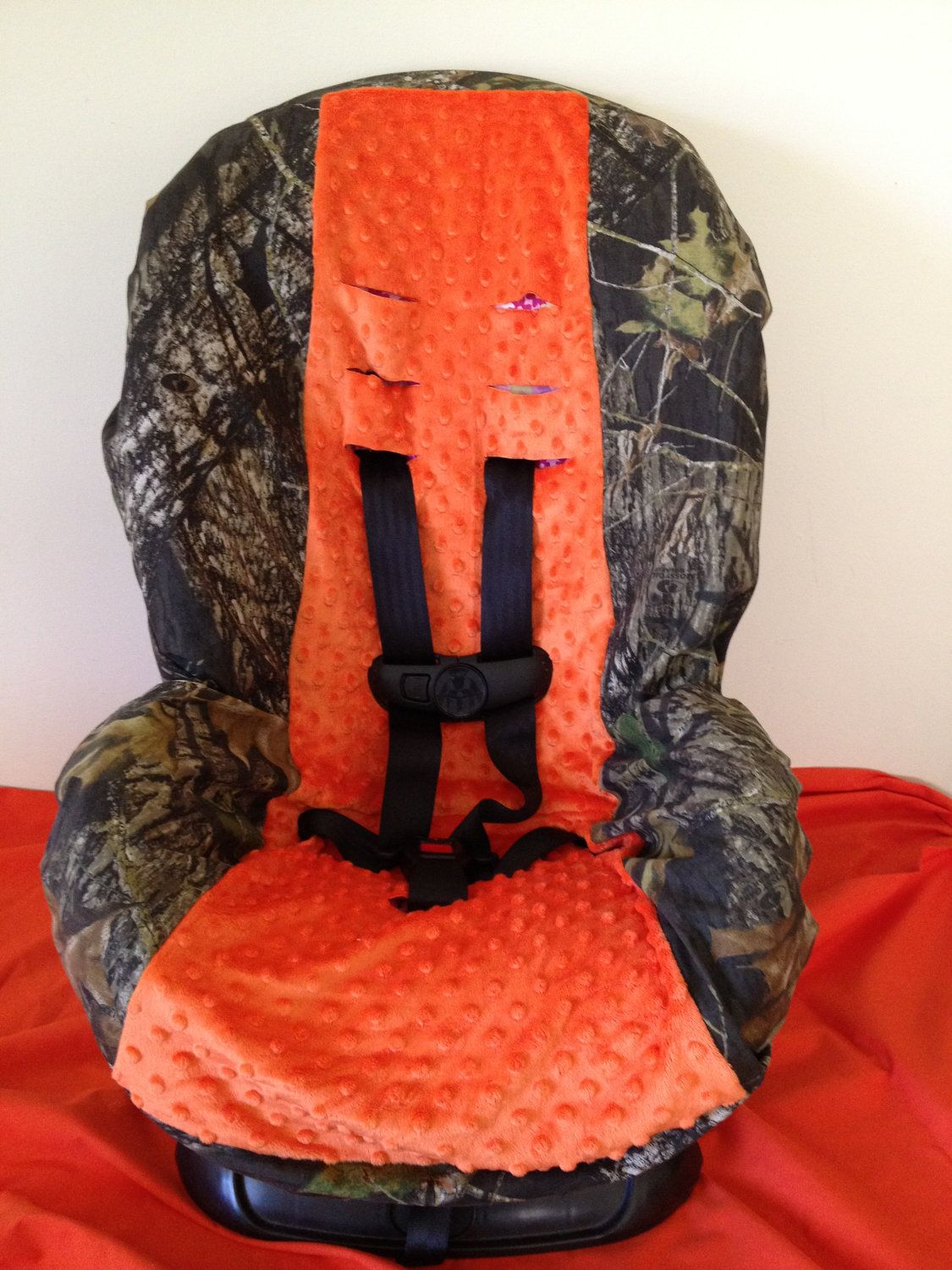 Camo Amp Orange Minky Fabric Toddler And Infant Convertible