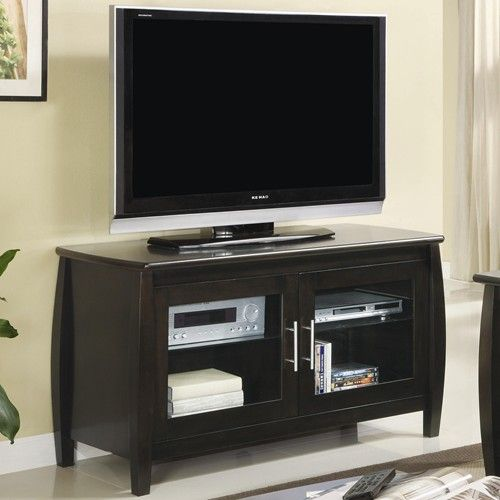 Contemporary Media Console With Glass Doors Coaster Furniture Tv Stand With Glass Doors Tv Stand Wood