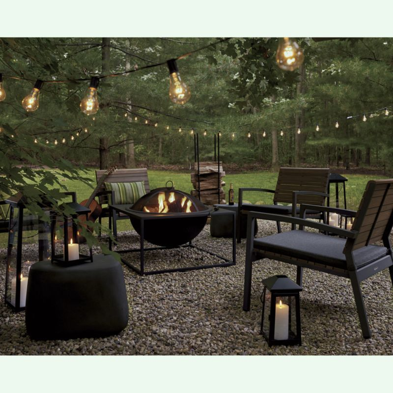 Rocha II Lounge Chair With Charcoal Sunbrella ® Cushion