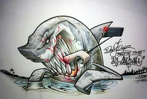 awesome drawings a tibura n