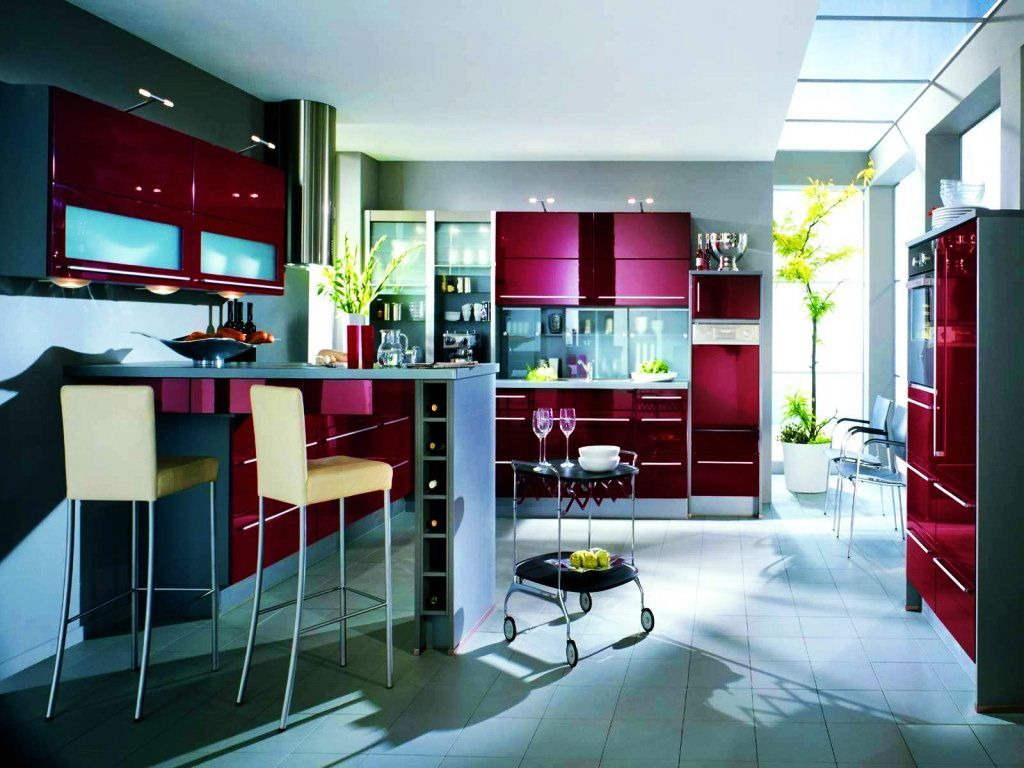 Red luxury modern painted kitchen cabinet ideas http://www.wenamed ...